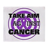 Take Aim - Leiomyosarcoma Throw Blanket