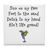 Drink in my hand tile coaster