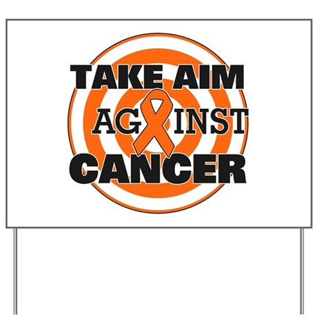 Take Aim - Kidney Cancer Yard Sign