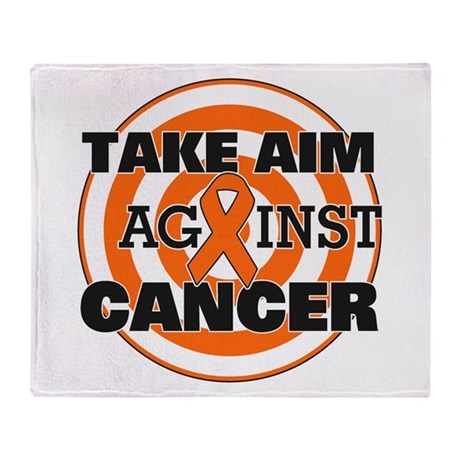 Take Aim - Kidney Cancer Throw Blanket