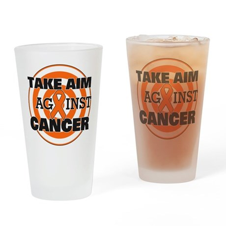 Take Aim - Kidney Cancer Pint Glass