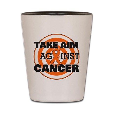 Take Aim - Kidney Cancer Shot Glass