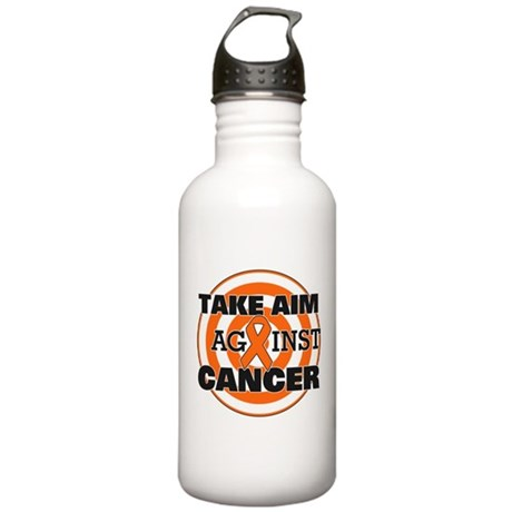 Take Aim - Kidney Cancer Stainless Water Bottle 1.