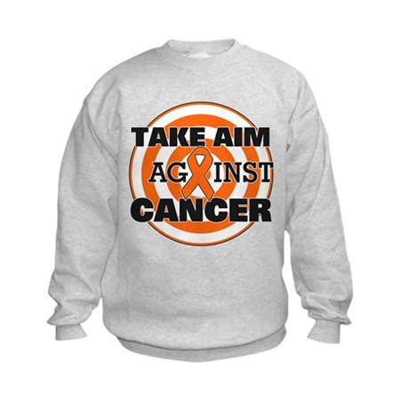 Take Aim - Kidney Cancer Kids Sweatshirt