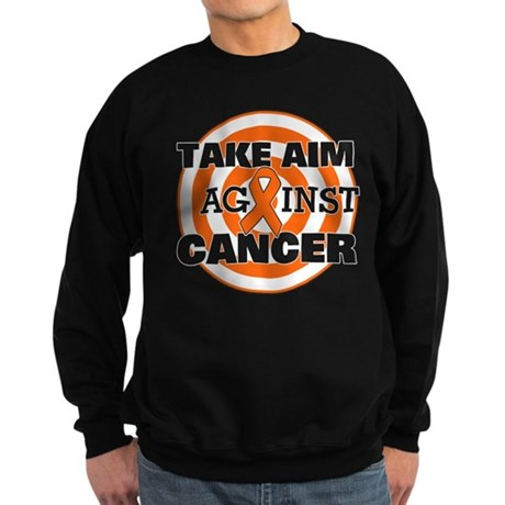 Take Aim - Kidney Cancer Sweatshirt (dark)