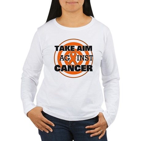 Take Aim - Kidney Cancer Women's Long Sleeve T-Shi