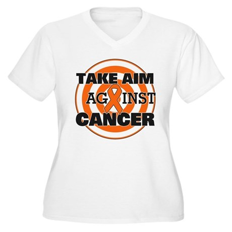 Take Aim - Kidney Cancer Women's Plus Size V-Neck