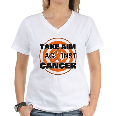 Take Aim - Kidney Cancer Women's V-Neck T-Shirt
