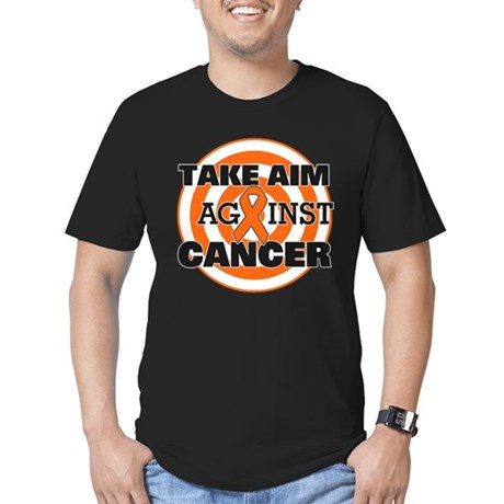 Take Aim - Kidney Cancer Men's Fitted T-Shirt (dar