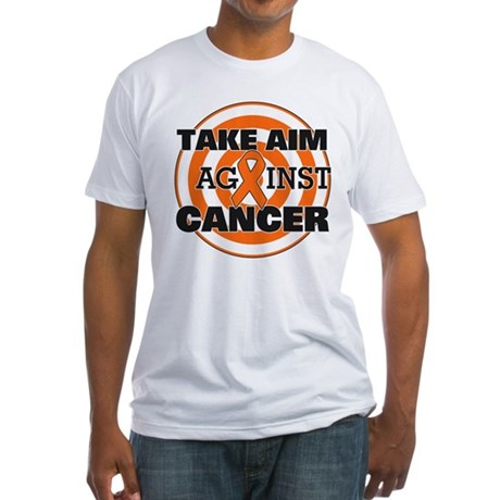 Take Aim - Kidney Cancer Fitted T-Shirt