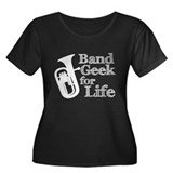 Baritone Band Geek Women's Plus Size Scoop Neck Da