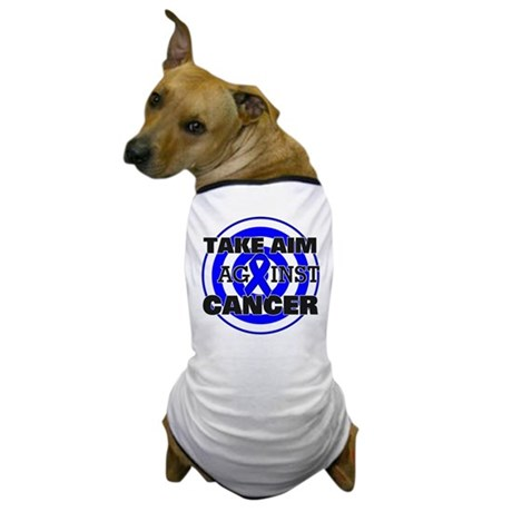 Take Aim - Colon Cancer Dog T-Shirt