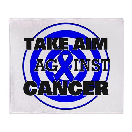 Take Aim - Colon Cancer Throw Blanket