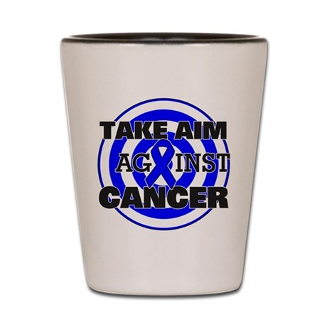Take Aim - Colon Cancer Shot Glass