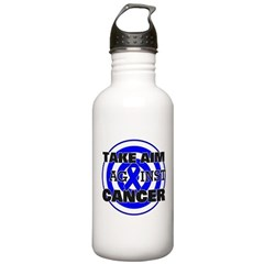 Take Aim - Colon Cancer Stainless Water Bottle 1.0