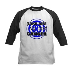 Take Aim - Colon Cancer Kids Baseball Jersey