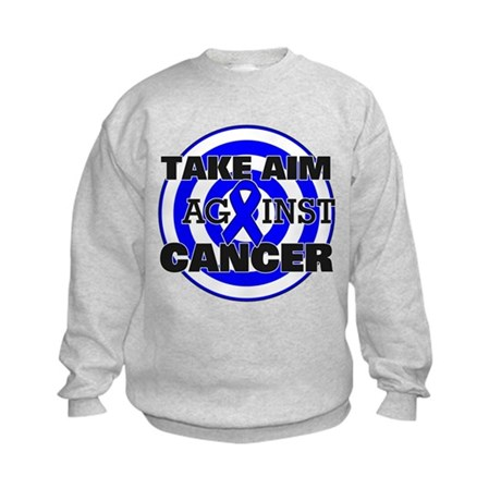 Take Aim - Colon Cancer Kids Sweatshirt