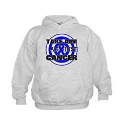 Take Aim - Colon Cancer Kids Hoodie
