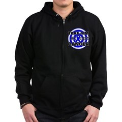 Take Aim - Colon Cancer Zip Hoodie (dark)