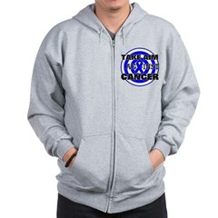 Take Aim - Colon Cancer Zip Hoodie
