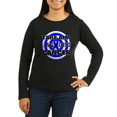 Take Aim - Colon Cancer Women's Long Sleeve Dark T