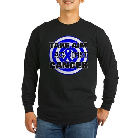 Take Aim - Colon Cancer Long Sleeve Dark T-Shirt