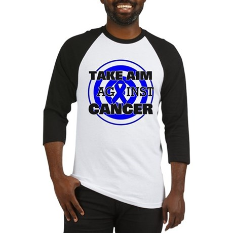 Take Aim - Colon Cancer Baseball Jersey