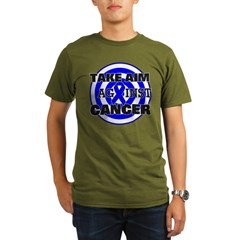 Take Aim - Colon Cancer Organic Men's T-Shirt (dar