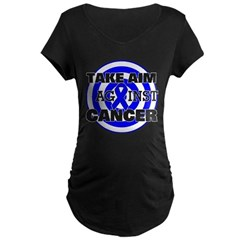 Take Aim - Colon Cancer Maternity Dark T-Shirt