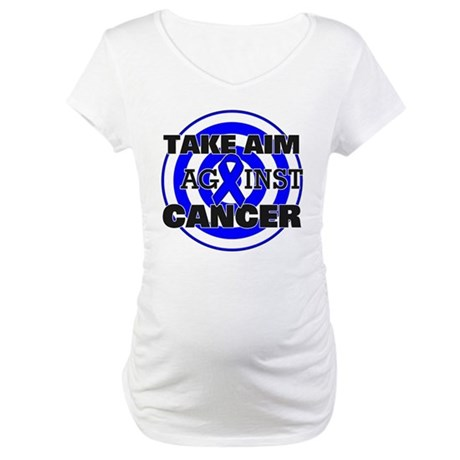 Take Aim - Colon Cancer Maternity T-Shirt