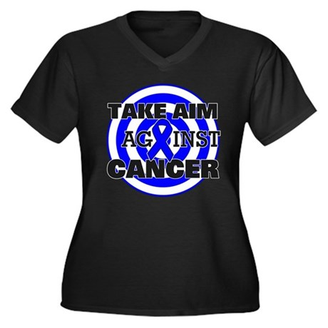 Take Aim - Colon Cancer Women's Plus Size V-Neck D