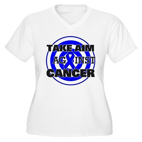 Take Aim - Colon Cancer Women's Plus Size V-Neck T