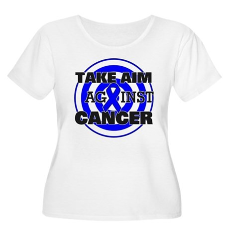 Take Aim - Colon Cancer Women's Plus Size Scoop Ne