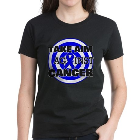 Take Aim - Colon Cancer Women's Dark T-Shirt