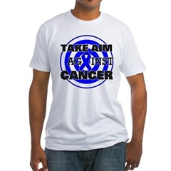 Take Aim - Colon Cancer Fitted T-Shirt