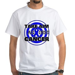 Take Aim - Colon Cancer White T-Shirt