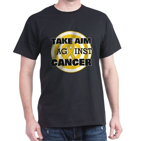 Take Aim - Childhood Cancer Dark T-Shirt