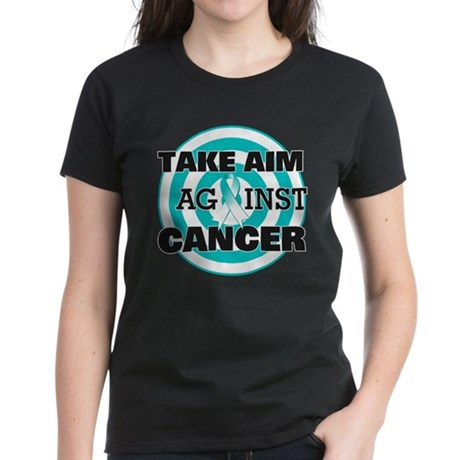 Take Aim - Cervical Cancer Women's Dark T-Shirt