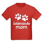 Cute Goldendoodle Mom Kids Dark T-Shirt