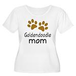 Cute Goldendoodle Mom Women's Plus Size Scoop Neck
