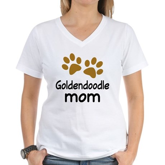 Cute Goldendoodle Mom Women's V-Neck T-Shirt
