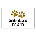 Cute Goldendoodle Mom Sticker (Rectangle)
