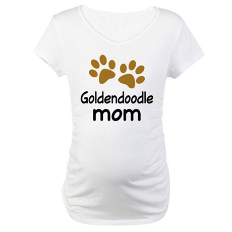 Cute Goldendoodle Mom Maternity T-Shirt