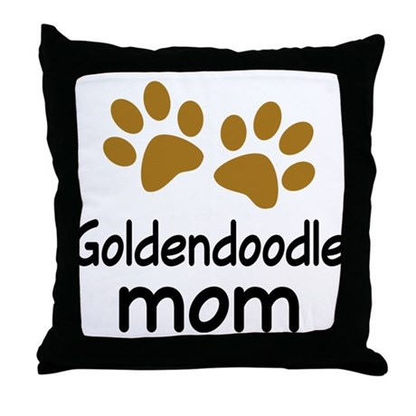 Cute Goldendoodle Mom Throw Pillow