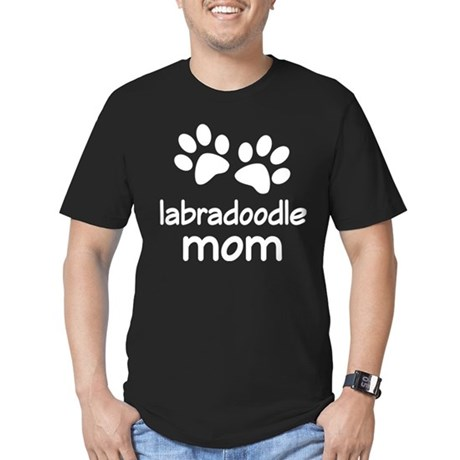 Cute Labradoodle Mom Men's Fitted T-Shirt (dark)