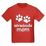 Cute Labradoodle Mom Kids Dark T-Shirt