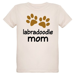 Cute Labradoodle Mom Organic Kids T-Shirt