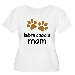 Cute Labradoodle Mom Women's Plus Size Scoop Neck