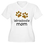 Cute Labradoodle Mom Women's Plus Size V-Neck T-Sh