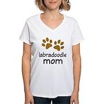 Cute Labradoodle Mom Women's V-Neck T-Shirt